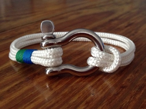 Nautical Shackle Bracelet - Sailor, Surfer, Beachwear